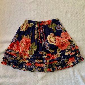 Mini Boden Floral Skirt 3-4Y